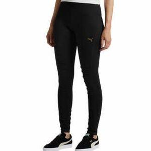 Puma black high waist with mesh calf panel